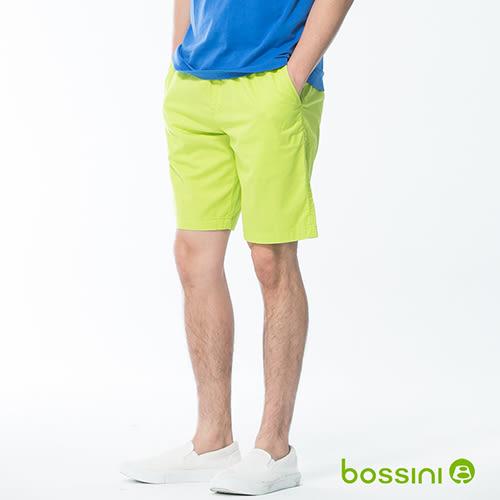 素色輕便短褲01蘋果綠-bossini男裝