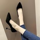 高跟鞋 尖頭十八細跟黑色職業高跟春款鞋女百搭學生單鞋-Ballet朵朵