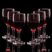紅酒杯葡萄酒杯高腳杯6只裝玻璃紅酒杯