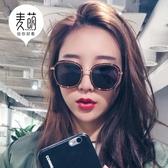 太陽鏡新款墨鏡女正韓潮偏光太陽鏡圓臉網紅眼鏡女明星同款復古街拍 降價兩天