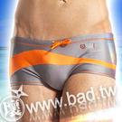 【壞男網購最低價】《型男時尚低腰衝浪四角泳褲(亮灰)》【M / L / XL】