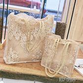手提包 蕾絲包女2018新款手提包購物袋韓國沙灘包復古刺繡單肩包女包手袋 第六空間