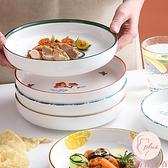 盤子家用菜盤牛排餐盤微波爐烤盤陶瓷盤碟子【大碼百分百】