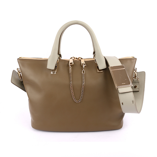 【Chloé】(展示品)Baylee Small 灰/駝 two-tone tote 3S0169 882 07V CL19100214