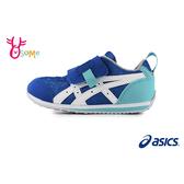 ASICS亞瑟士 IDAHO 中童 運動鞋 日本機能鞋 足弓墊 夏日衝浪印花 A9178#藍色◆OSOME奧森鞋業