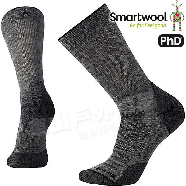 Smartwool PhD OD LT SW001069-052灰 男戶外輕量級減震中長襪 美麗諾羊毛襪/戶外襪機能排汗襪/健行襪雪襪