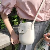 女性斜背包 韓國新款橢圓形包包女迷你百搭斜背包包 珍妮寶貝
