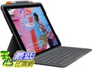 [9美國直購] Logitech iPad Air (3rd Generation) Keyboard Case   Slim Folio with Integrated Wireless Keyboard (Graphite)