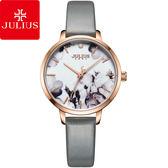JULIUS 聚利時 森林精靈印花復古時尚腕錶-氣質灰/29mm 【JA-1101C】