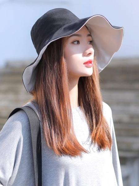 漁夫帽 夏季漁夫帽女日系防曬帽防紫外線遮陽帽韓版潮網紅大沿太陽帽 寶貝計書