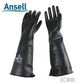 ME104橡膠防化手套工業耐酸堿黑色加長加厚抗腐蝕耐濃硫酸 3C優購