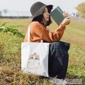 帆布包女夏天學生韓版潮原宿 單肩包印花貓咪小清新補習袋 概念3C旗艦店