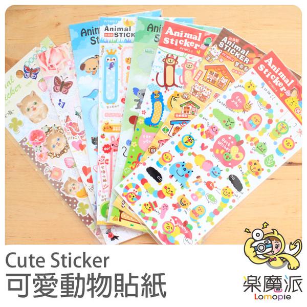 可愛動物 小狗 企鵝 貓咪 裝飾貼 鏡面貼 可愛貼紙 便條 留言貼 泡棉貼 手帳筆記貼紙