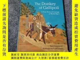 二手書博民逛書店萬葉堂罕見英文原版精裝繪本 the donkey of gallipoliY25771