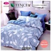 御芙專櫃『薇嫚花葉』5*6.2尺*╮☆100%天絲棉40支/七件套床罩組/雙人
