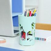 ✭慢思行✭【G64】森林動物鏤空收納盒 桌面 籃 文具 筆筒 辦公室 洗漱 通風 化妝品 裝飾