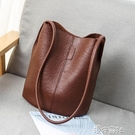 復古做舊水桶包包女新款大容量女包時尚單肩包斜跨包 【618特惠】