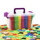 一件85折-加厚桶裝雪花片大號兒童益智拼插積木插片幼兒園玩具3-6周歲