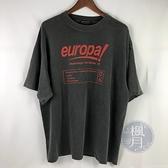 BRAND楓月 BALENCIAGA 巴黎世家 灰色 OVERSIZI 紅字TEE T恤 短袖 上衣 男女皆可 #S