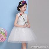 2020新款嬰兒公主裙女童禮服婚紗花童裙子寶寶春裝兒童蓬蓬連身裙 美芭