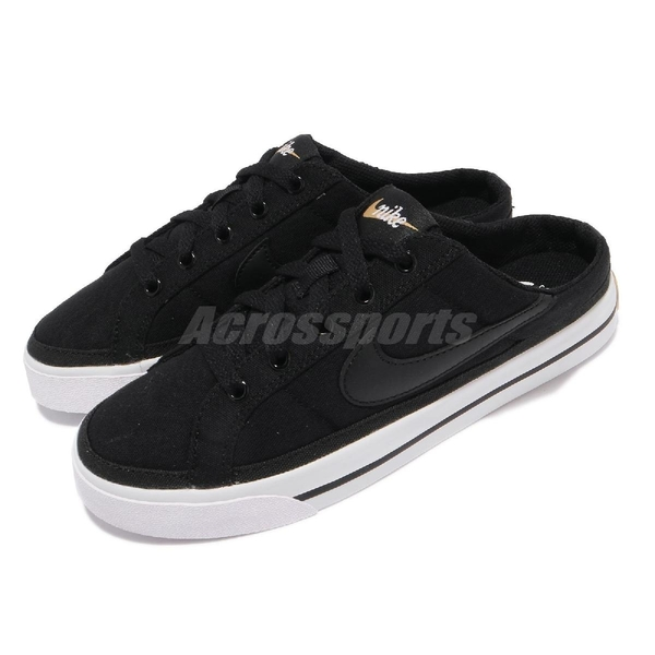 Nike 穆勒鞋 Wmns Court Legacy Mule 黑 白 女鞋 拖鞋 懶人鞋【ACS】 DB3970-001