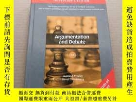 二手書博民逛書店Argumentation罕見and Debate(精裝本)原版
