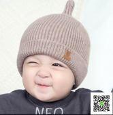 寶寶帽 韓國秋冬季新生兒童帽女寶寶毛線帽子男童0一1歲嬰兒冬天針織帽潮 快樂母嬰