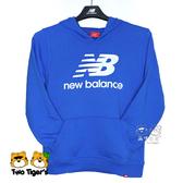 New Balance NB童裝 秋冬 藍色 LOGO 帽T 長袖 上衣 童裝 NO.H2598