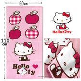 凱蒂貓  純棉小浴巾  凱蒂貓愛紅蘋果款  浴巾 Kitty 三麗鷗