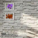 3D立體淺灰白磚紋【A0244】進口仿真...