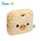 小雞款【日本正版】拉拉熊 絨毛 收納包 化妝包 懶懶熊 Rilakkuma San-X - 720601