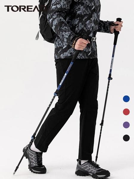 登山杖 探路者戶外超輕碳纖維登山杖男多功能伸縮手杖徒步拐杖女登山裝備 宜品居家