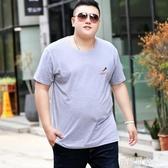 t恤男短袖胖子寬鬆特大號超大碼胖人純棉半袖上衣加肥加大t桖小衫『潮流世家』
