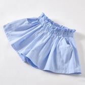 女童短褲純棉薄款中大童女孩半身裙洋氣百搭純色外穿童熱褲春季夏