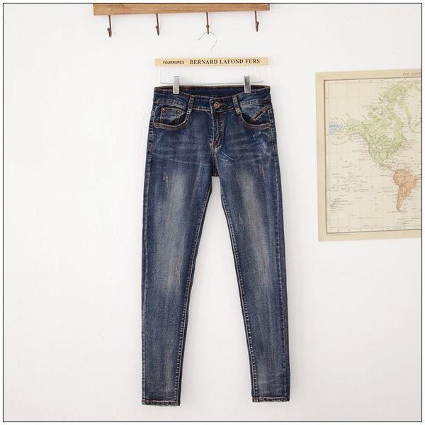 梅梅露*【69010188】牛仔褲。纖細美腿窄管小直筒長褲
