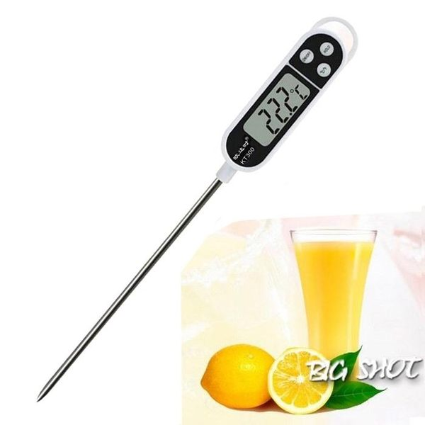 水溫計-奶溫廚房食品溫度計中心油溫烘焙奶粉水溫液體食物電子測溫儀探針【大咖玩家】T1