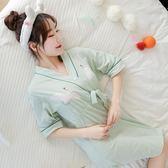 黑五好物節日系和服睡衣女夏季純棉短袖睡裙女汗蒸服甜美可愛全棉睡袍家居服