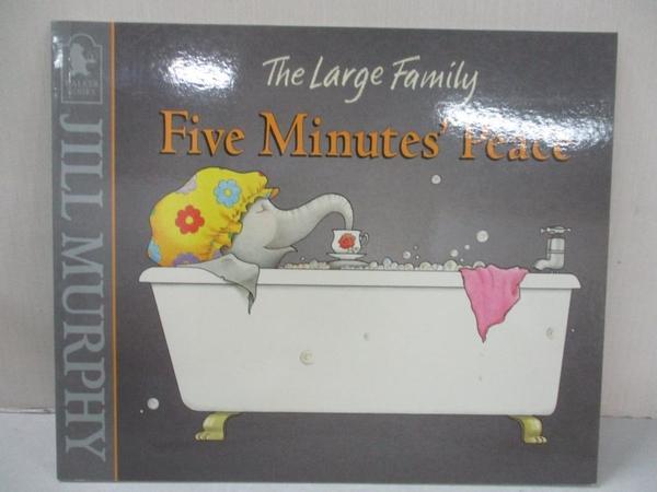 【書寶二手書T2/少年童書_JVE】Five Minutes` Peace_Jill Murphy