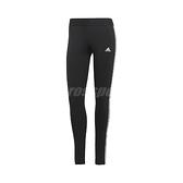 adidas 長褲 Loungewear Essentials 3-Stripes Leggings 黑 白 女款 緊身褲 跑步 健身 運動休閒【ACS】 GL0723
