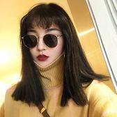 ulzzang原宿嘻哈風小框圓臉太陽眼鏡圓框復古女墨鏡潮  LM々樂買精品
