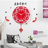 掛鐘 凱諾時現代客廳藝術掛鐘簡約時尚鐘錶創意中式石英鐘十二生肖壁鐘  蘇荷精品女裝IGO