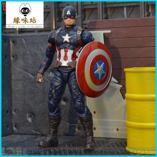 Marvel Legends內戰套 美國隊長 6寸可動人偶 內戰版現貨【緣味站】YWZ-134179