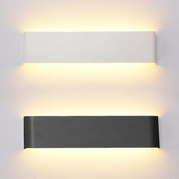 簡約現代LED臥室床頭鏡前走廊過道玄關壁燈長方形客廳墻面背景燈 元宵鉅惠 限時免運