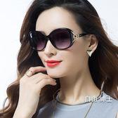 新品偏光太陽鏡圓臉女士墨鏡女潮明星款防紫外線眼鏡(免運)