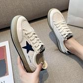 平底鞋 網紅小白鞋子2021新款女鞋板鞋洋氣潮韓版ulzzang爆款百搭平底【快速出貨八折搶購】