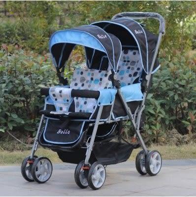 雙胞胎嬰兒手推車前後坐【藍星居家】
