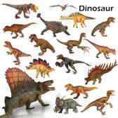 中杰銘實心恐龍玩具兒童玩具恐龍仿真動物模型霸王龍翼龍玩具套裝