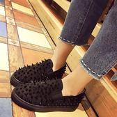 韓版春季單鞋女新款時尚運動鞋學生平底百搭一腳蹬懶人女鞋潮 優帛良衣