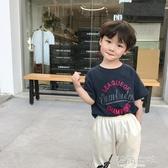 柒號童倉短袖女童t恤新款男童上衣韓版t恤卡通印花潮 海角七號
