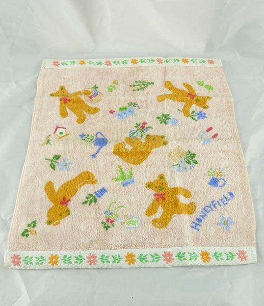 【震撼精品百貨】HONEY FIELD 熊~方巾『種植-橘粉』